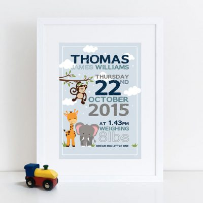 Personalised Boy Birth Print